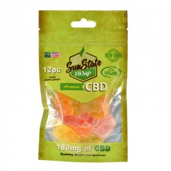 Bonbons CBD oursons Vegan goût fruits – Sun State