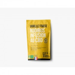 Infusion cbd bio rooibos saveur vanille fraise - Rest in Tizz
