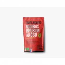 Infusion CBD Rooibos saveur fruits rouges – Rest in Tizz